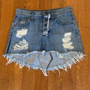 CARMAR Ripped Denim Mini Skirt size 23